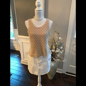 ⚜️ Requirements - Cream Crocheted Tank Top Size M